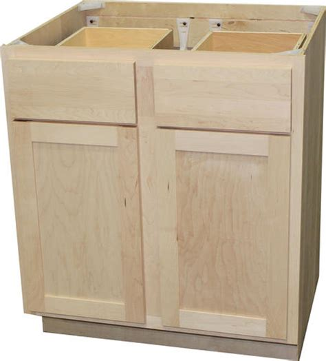 unfinished base cabinets menards quality one 30 quot x 34 1 2 quot unfinished maple double base