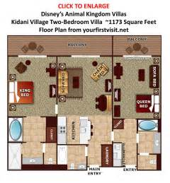 key west 1 bedroom villa floor plan the disney vacation club quot dvc quot resorts at walt disney world