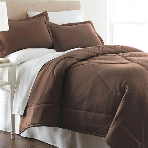 micro flannel comforter micro flannel chocolate king 4 piece comforter set