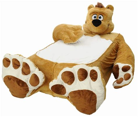 giant teddy bear bed goldilocks would probably avoid the fuzzy bear bed