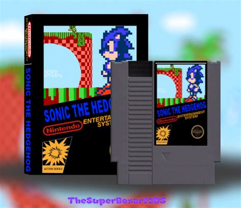 Home Design Virtual Games sonic the hedgehog nes box art cover by thesuperboxart3ds