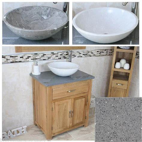 Wash Bowl Vanity Units by Bathroom Vanity Unit Oak Cabinet Wash Stand Grey Quartz