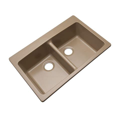 Mont Blanc Waterbrook Dual Mount Composite Granite 33 In Dual Mount Kitchen Sink