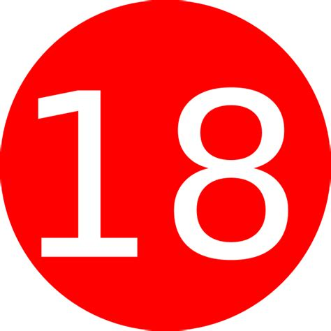 number 18 red background clip art at vector clip art online royalty free and public