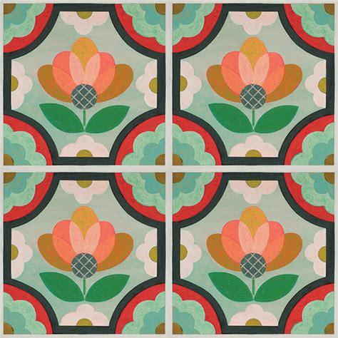floral pattern vinyl flooring peel and stick decorative floor decals mirth studio