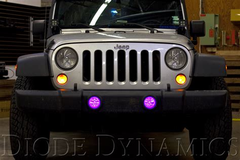 light purple jeep fs wrangler rgb multicolor fog light leds awesome effect