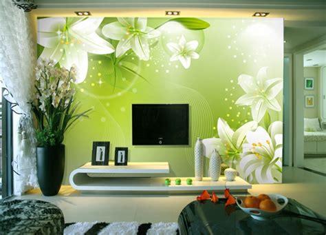 Wohnzimmer Blumen by 100 Ideen F 252 R Wandgestaltung In Gr 252 N Archzine Net