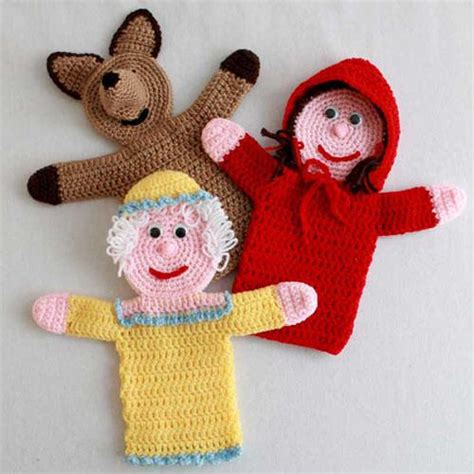 Handmade Puppets Patterns - maggie s crochet 183 storybook puppets
