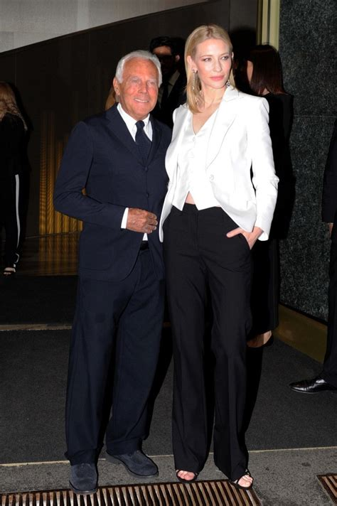 Giorgio Armani And Cate Blanchett Attend Armani Ginza Towers Light Up Ceremony by Cate Blanchett Pictures Giorgio Armani And Cate