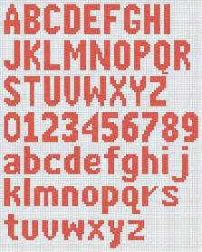free knitted alphabet and numbers chart courtesy of