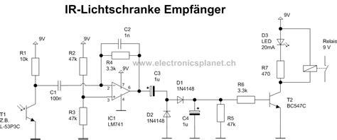 ir diode strom lichtschranke schaltplan