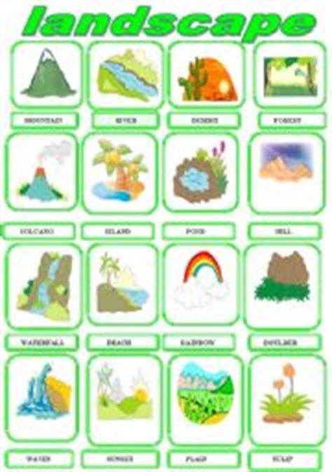 Landscape Lesson For Kindergarten Worksheet Landscape