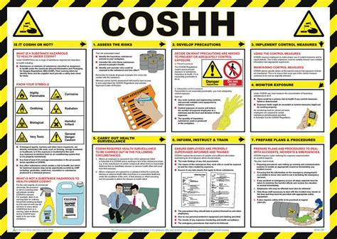 printable hse poster coshh safety poster laminated 59cm x 42cm