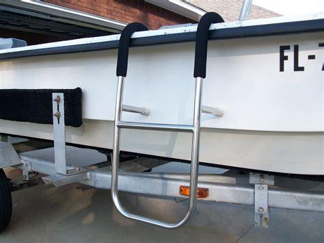 ladder in boat custom saltwater series boat ladders pensacola fishing forum
