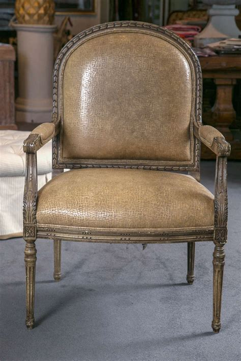 ostrich leather couch italian open armchairs with ostrich leather for sale at