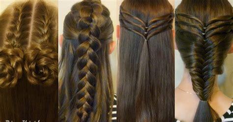 easy hairstyles  school cute  heatless part