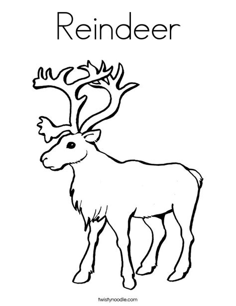 coloring pages reindeer reindeer coloring page twisty noodle