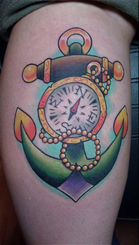 awesome anchor  compass tattoo entertainmentmesh