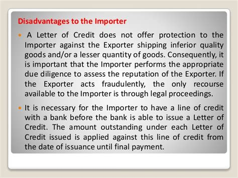 documentary credit or letter of credit