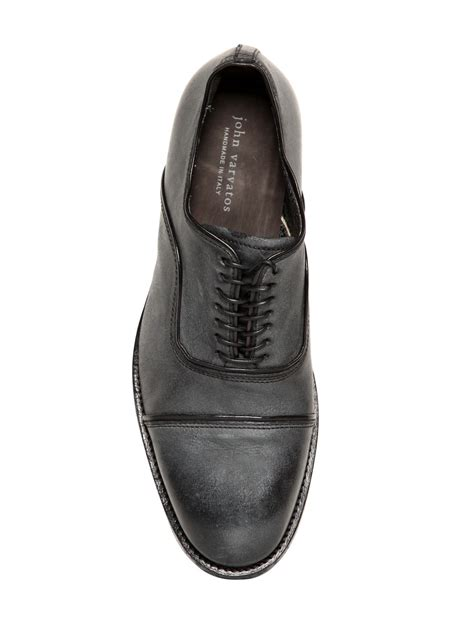 varvatos oxford shoes varvatos freeman vintage leather oxford shoes in gray
