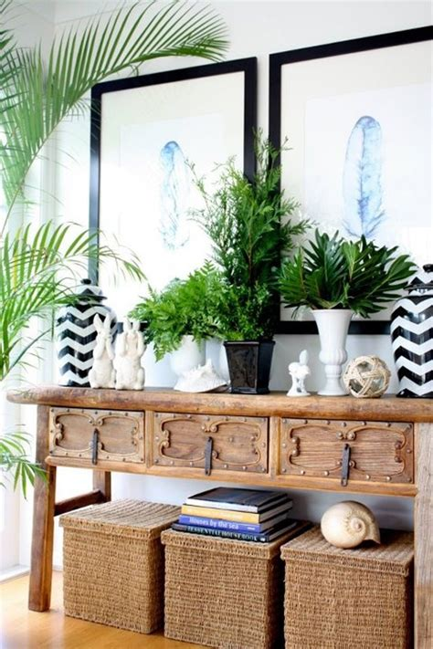 maison fresh greens decorating with houseplants