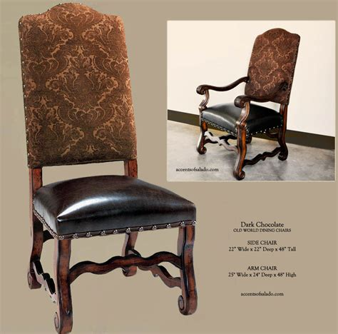 Tuscan Dining Chairs Dining Chairs World Tuscan Leather Dining Chairs