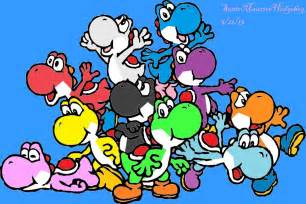 yoshi colors different colored yoshi by sonicmauricehedgehog on deviantart