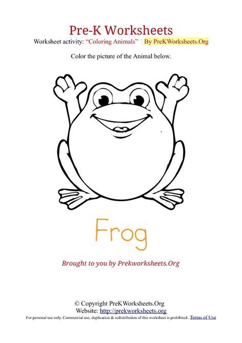 Pre K Coloring Pages Pdf by Preschool Worksheets On Frogs Preschool Best Free
