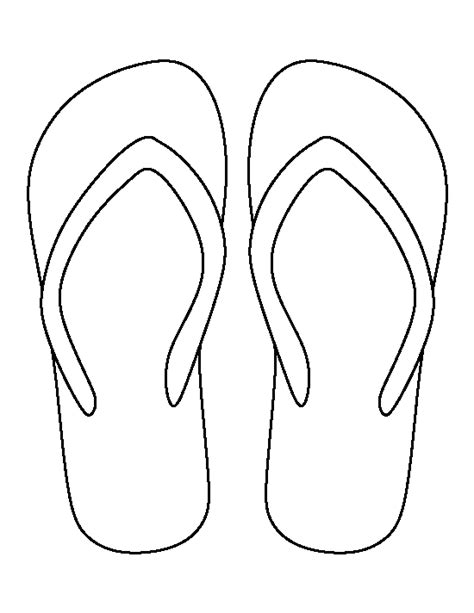 flip flop template flip flop pattern use the printable outline for crafts