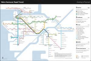 translink canada line map 1000 ideas about skytrain vancouver on go