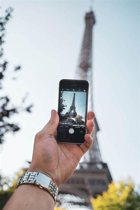 stock photo  blur camera cellphone