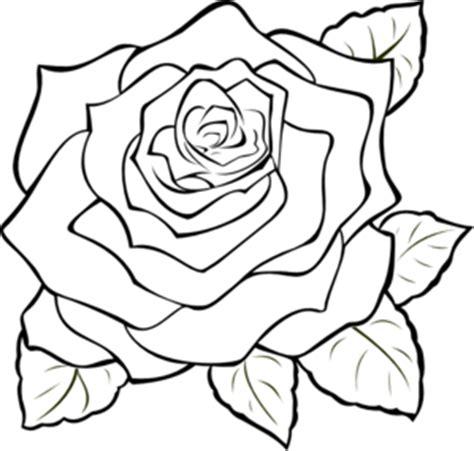 uncoloured rose clip art at clker com vector clip art