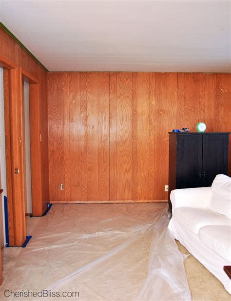 Can You Paint Wood Paneling | how to paint wood paneling cherished bliss