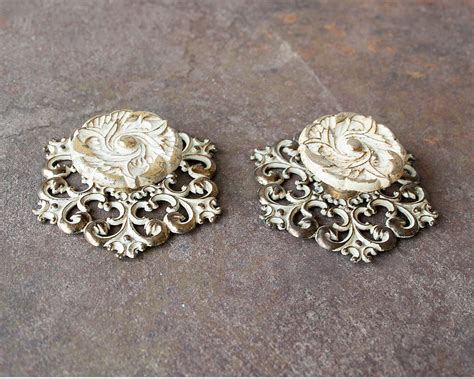 Fancy Knobs For Drawers by Vintage Pair Of Knobs Or Drawer Pulls With Decorative