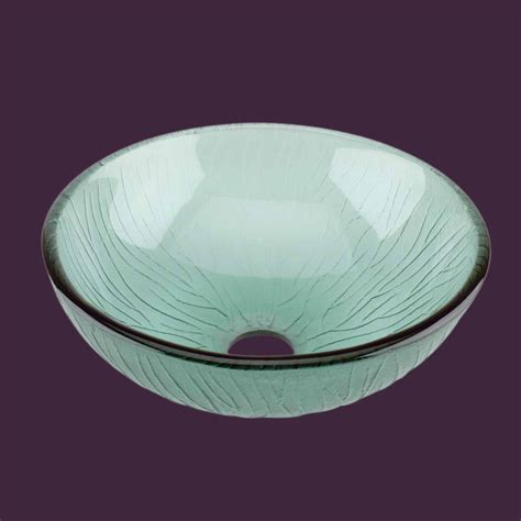 frosted glass vessel sink glass vessel sink with drain frosted green tempered glass
