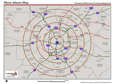 atlanta georgia surrounding area map metro atlanta proximity map you ll be about 15 miles nw