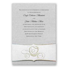 fairytale wedding invitations   invitations by dawn