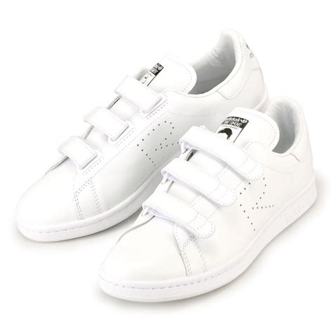 republic adidas stan smith white collaboration simmons sneakers velcro comfort adidas x