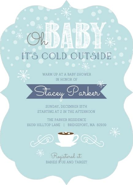 vintage winter baby shower invitations d413 baby printables