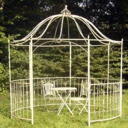Awnings Direct Wrought Iron Belmont Gazebo Cream Buy Sheds Direct Uk