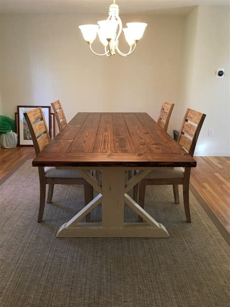 farmers dining room table simple farmhouse style dining
