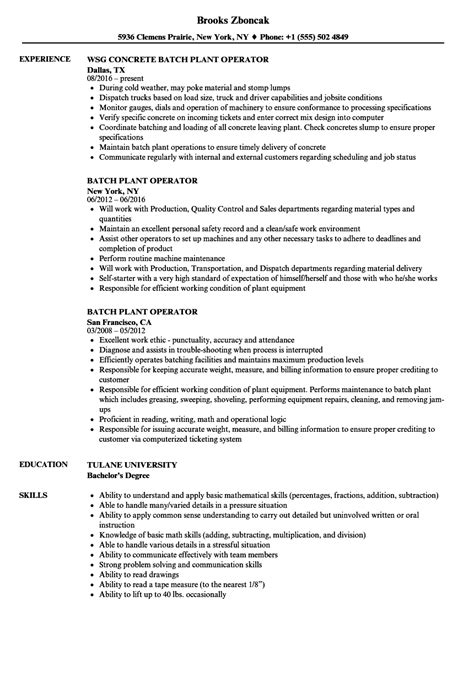 wastewater treatment plant operator resume resume ideas