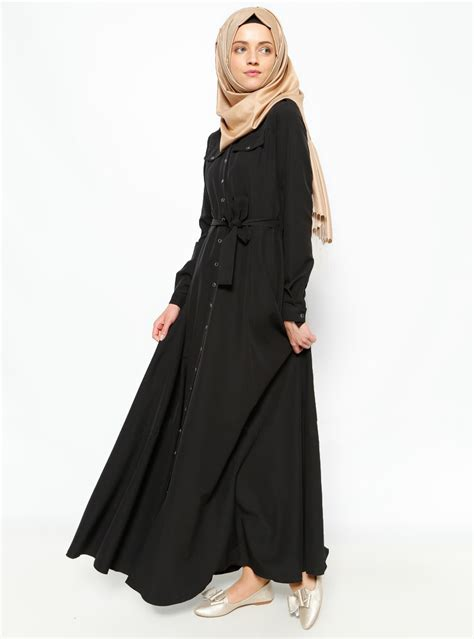 long dress muslim women clothing ୧ʕ ʔ୨2016 new arrival islamic っ black black abayas