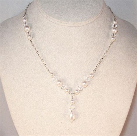 Handmade Beaded Necklace - handmade beaded necklaces 40 00 swarovski pearl bridal