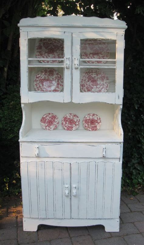 hutch china cabinet cupboard shabby chic farmhouse