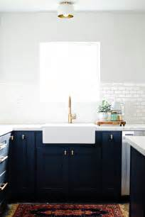 navy blue kitchen cabinets adding color with blue kitchen cabinets carly blogs