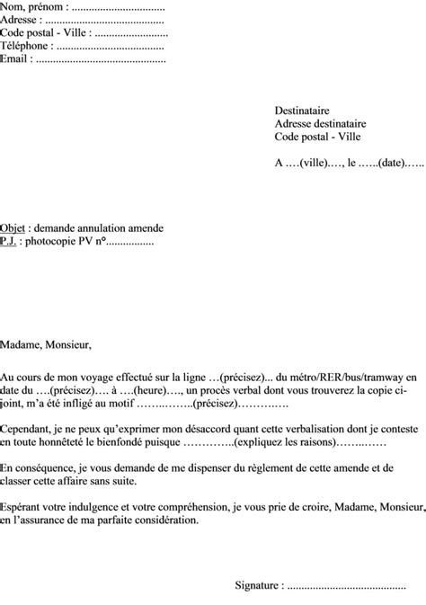 Exemple De Lettre Contestation Amende exemple lettre contestation pv