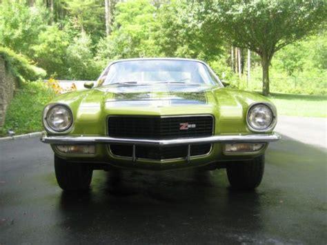 1970 camaro green find used 1970 camaro z 28 lt 1 citrus green moss green