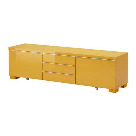 Besta Burs Tv Bench best 197 burs tv bench high gloss yellow ikea