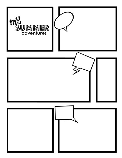 printable comic book templates comic template best template collection